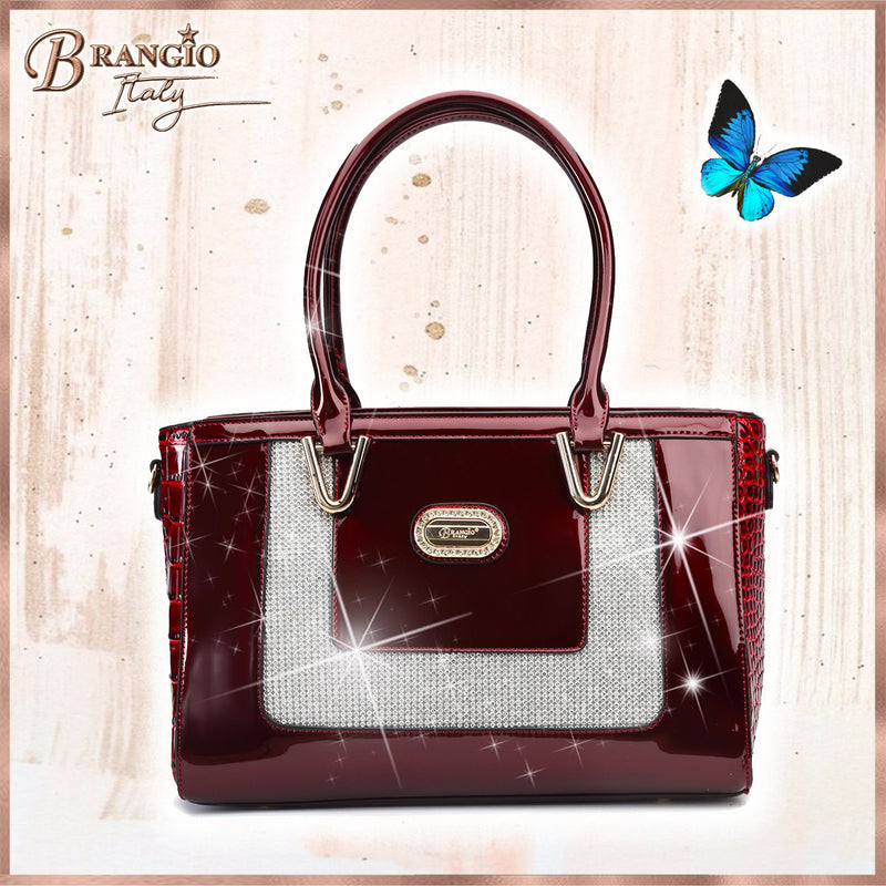 Diamond Princess Crystal Stud Tote Bag - Brangio Italy Collections