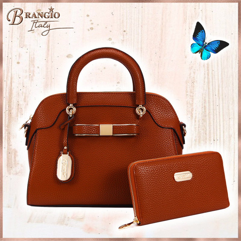 Desert Bow Matching Handbag + Wallet Set - Brangio Italy Collections