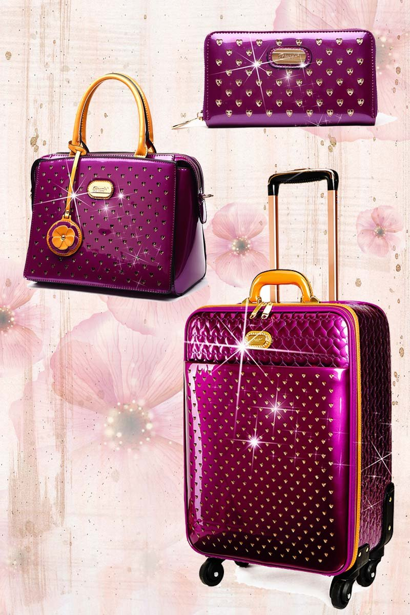 Starz Art Retro 3PC Set | Light Weight Spinner Luggage for the American Tourister - Brangio Italy Collections