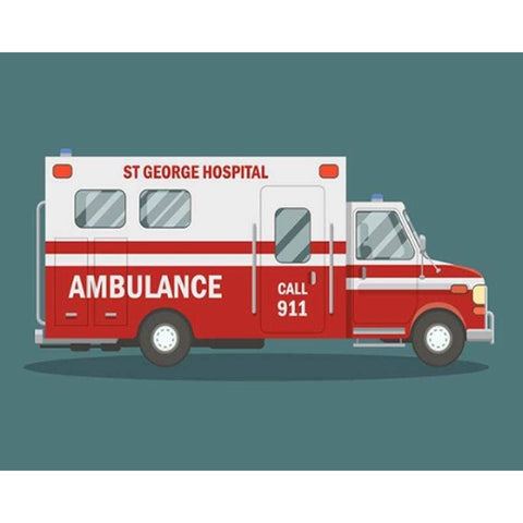 Broderie Diamant Ambulance
