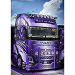 Broderie Diamant Camion Violet