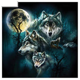 Broderie Diamant Illustration de Loup