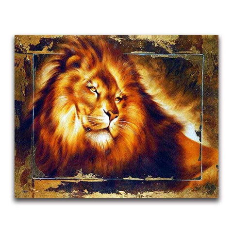 Broderie Diamant Illustration Lion