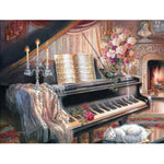 Broderie Diamant Piano
