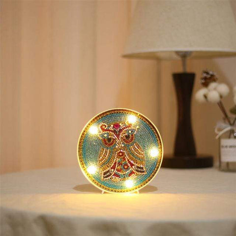 Broderie Diamant Rond Hiboux