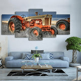 Broderie Diamant Tracteur Orange