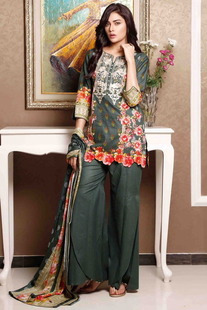 Sahil Designer Lawn Embroidered Collection 2019 Salwat Suit DN-01A