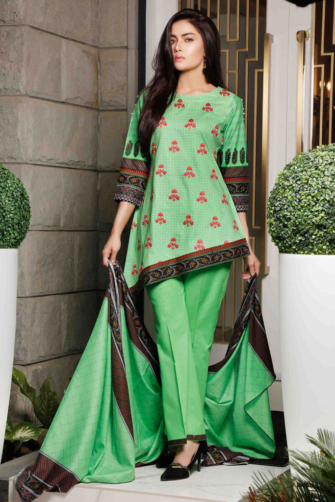 Sahil Designer Lawn Embroidered Collection 2019 Salwat Suit DN-02A