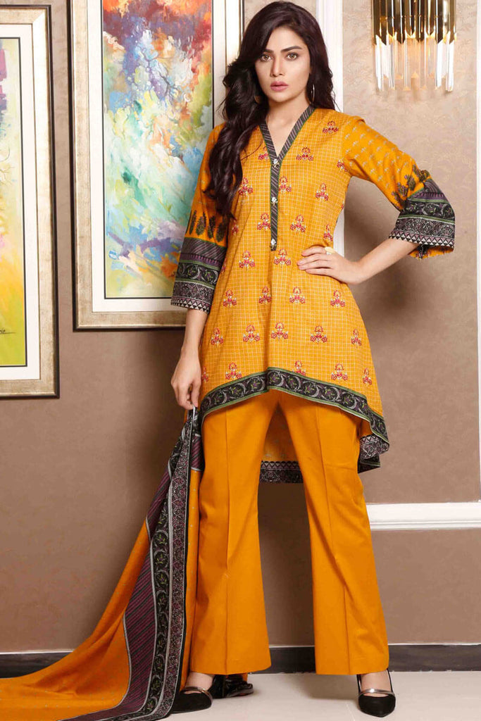 Sahil Designer Lawn Embroidered Collection 2019 Salwat Suit DN-02B