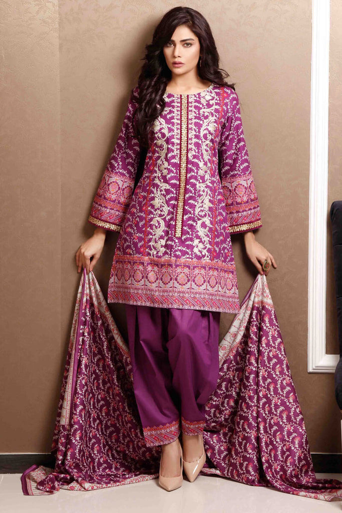 Sahil Designer Lawn Embroidered Collection 2019 Salwat Suit DN-04B