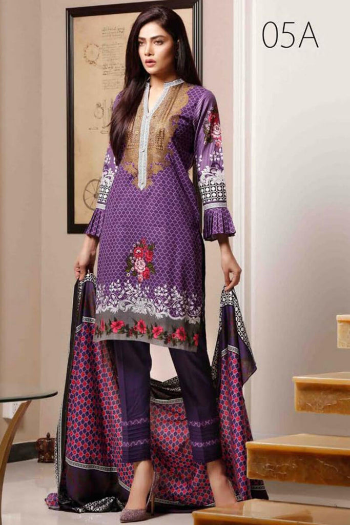 Sahil Designer Lawn Embroidered Collection 2019 Salwat Suit DN-05A