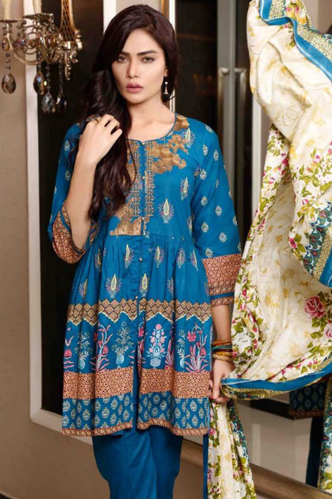 Sahil Designer Lawn Embroidered Collection 2019 Salwat Suit DN-06B