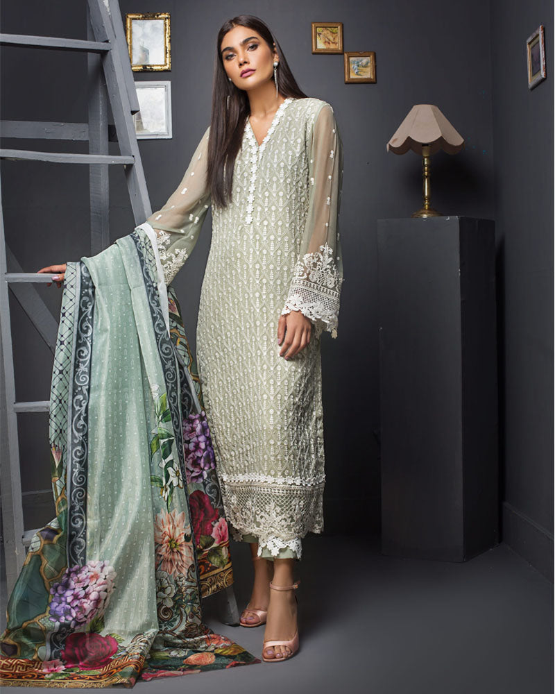 Kalyan Festive Chiffon Embroidered Collection Salwar Suit DN 04
