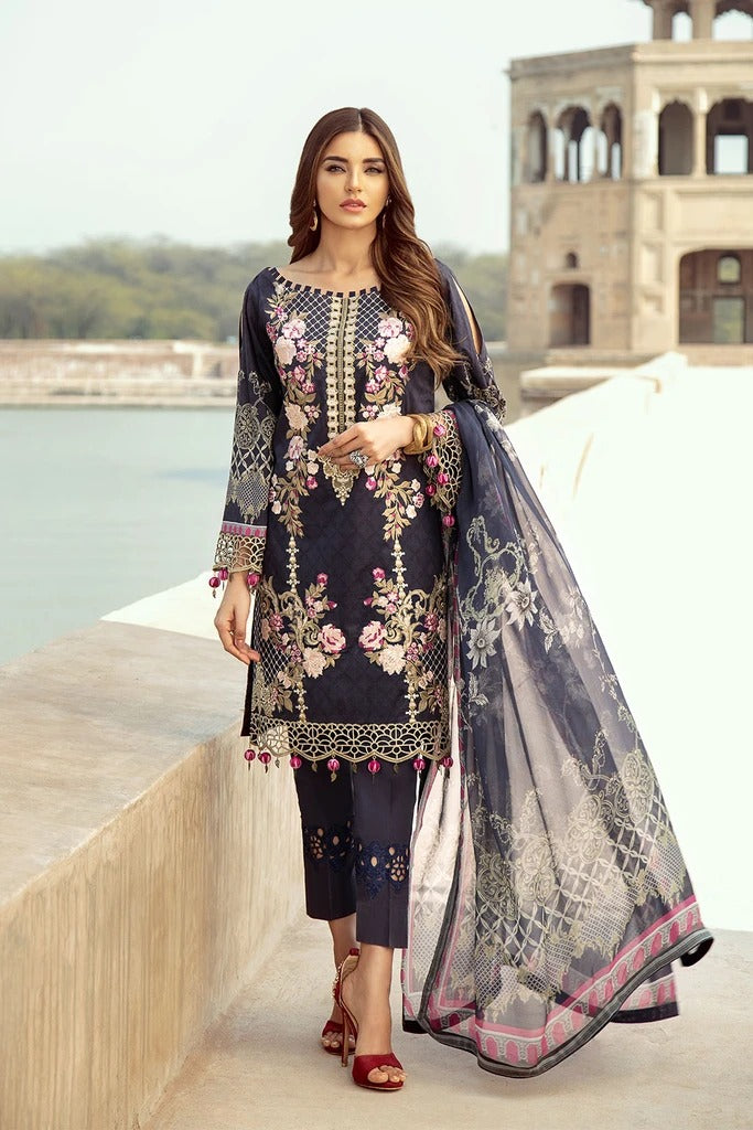 Ramsha Chevron Luxury Lawn Collection - 202