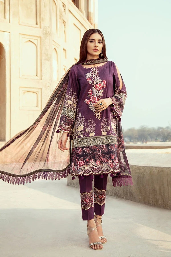 Ramsha Chevron Luxury Lawn Collection - 207