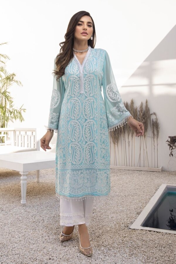 Kurti for Party from Azure 2021 – Azure Breeze