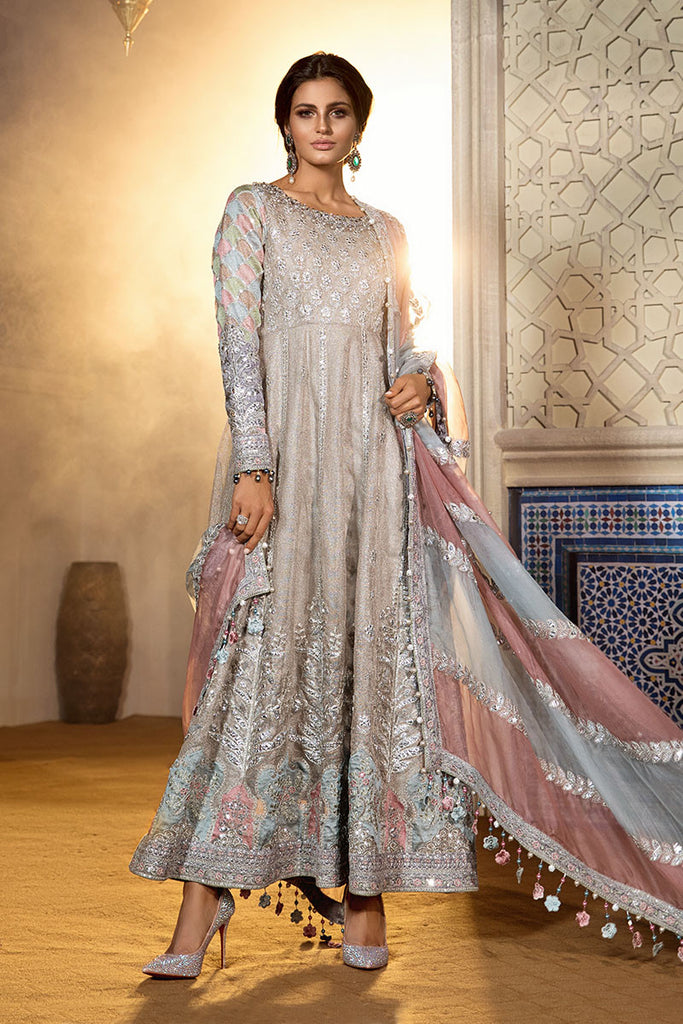 Maria B Unstitched MBROIDERED Salwar Suit - Cappuccino Moonlight BD-1805