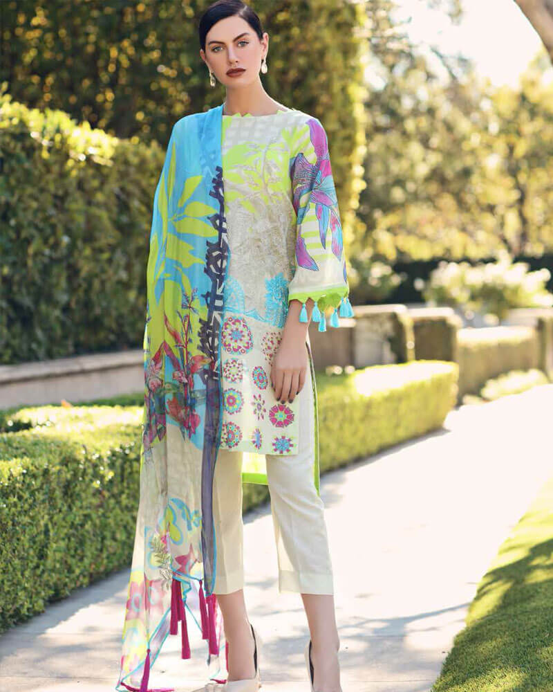 Charizma Lawn Karandi Collection Vol 2 Salwar Suits CK-12
