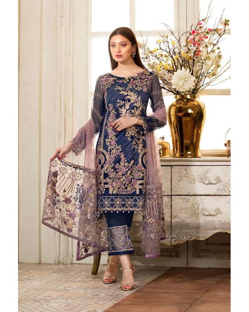 Ramsha Rangoon Collection Vol 4 Pakistani Salwar Suit D-403