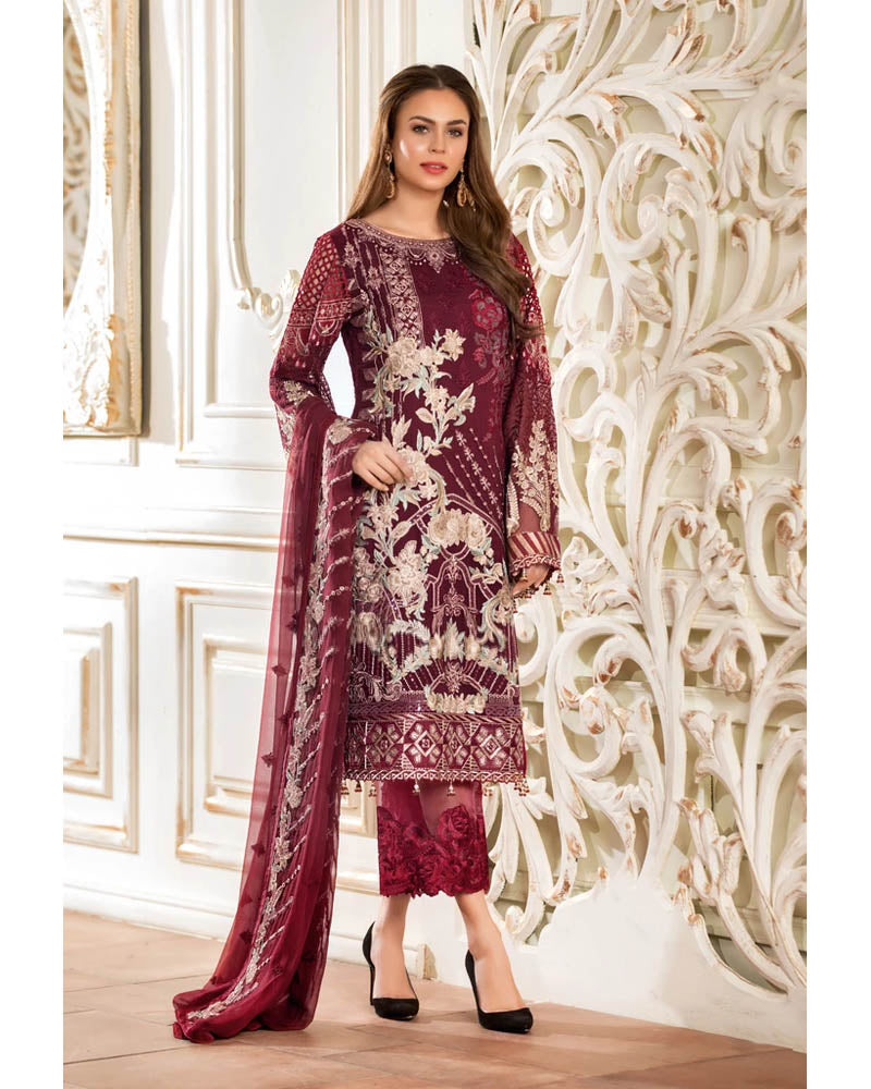Ramsha Rangoon Collection Vol 4 Pakistani Salwar Suit D-407