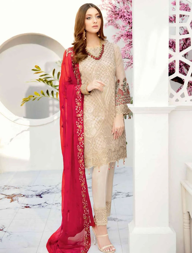 Ramsha Rangoon Volume 5 Original Pakistani Salwar Suit D-502
