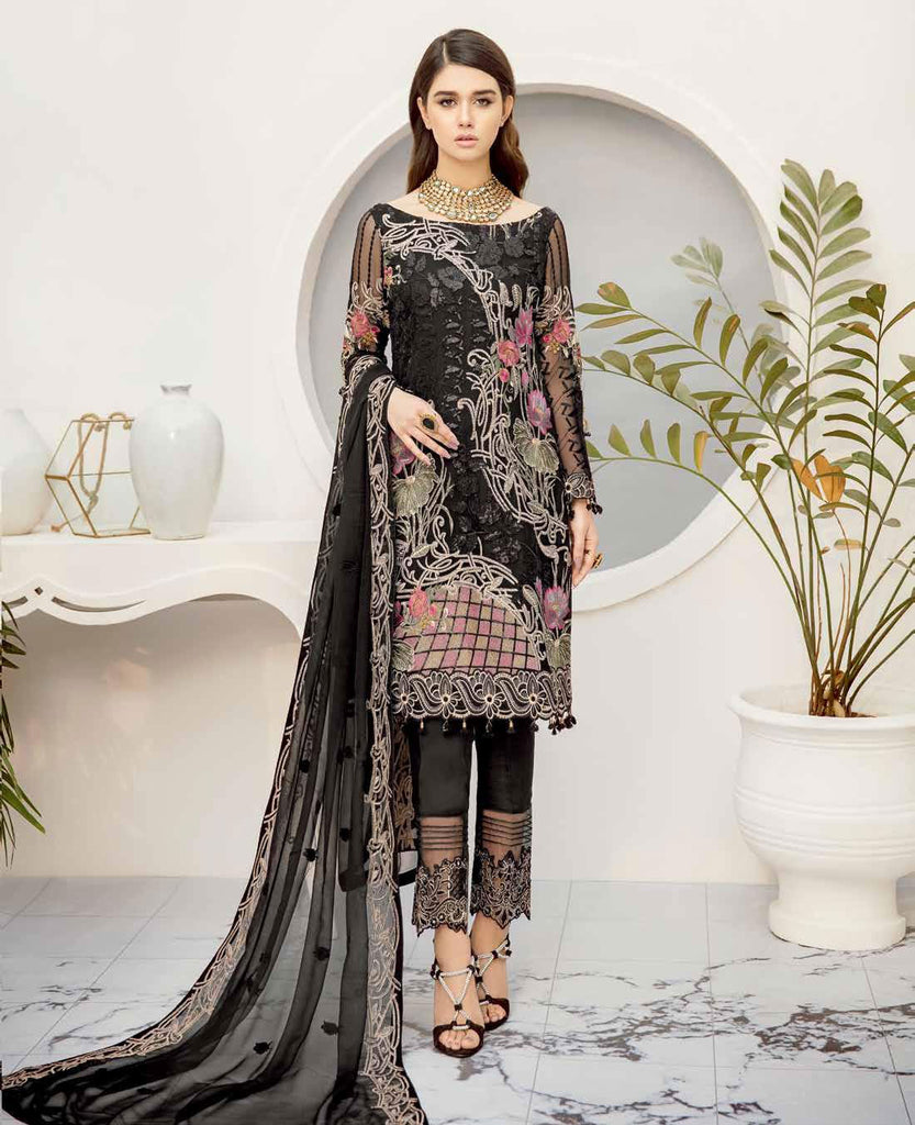 Ramsha Rangoon Volume 5 Original Pakistani Salwar Suit D-503