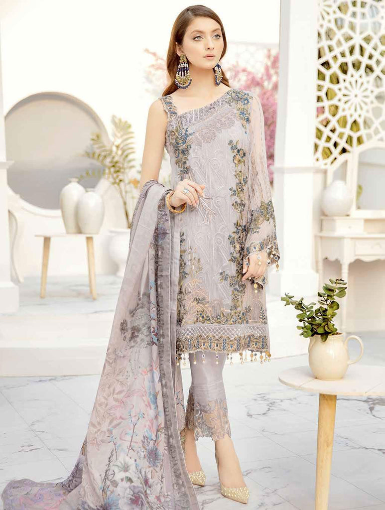 Ramsha Rangoon Volume 5 Original Pakistani Salwar Suit D-508