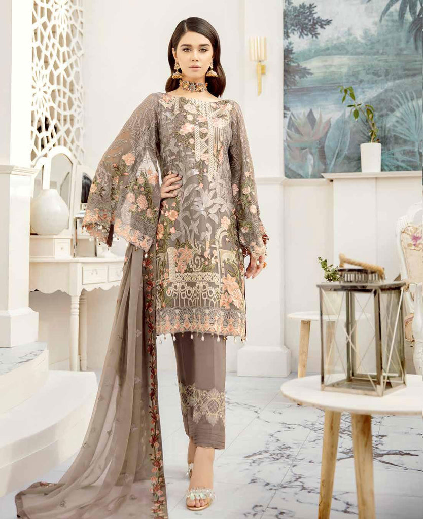 Ramsha Rangoon Volume 5 Original Pakistani Salwar Suit D-509
