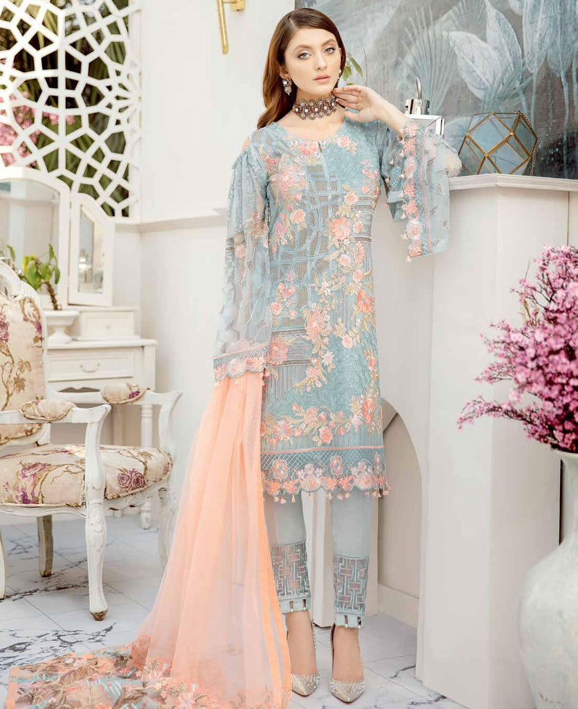 Ramsha Rangoon Volume 5 Original Pakistani Salwar Suit D-510