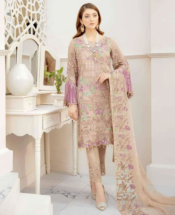 Ramsha Rangoon Volume 5 Original Pakistani Salwar Suit D-512