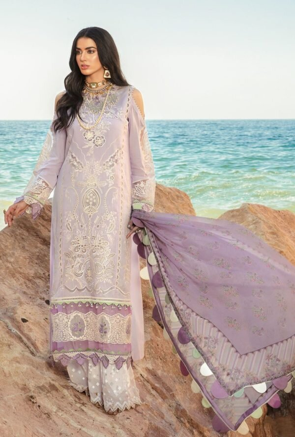 Noor Luxury Lawn by Sadia Asad 2021 – D4-B