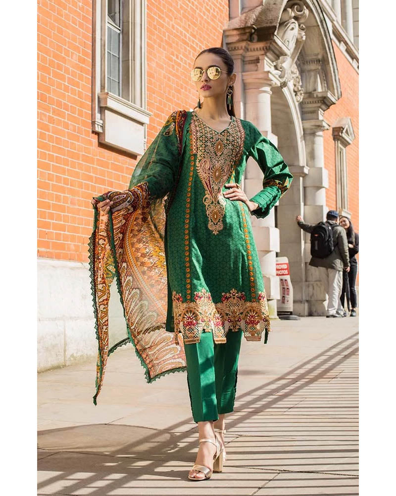Mahnoor Lawn Collection 19 Salwar Suit DN-01B