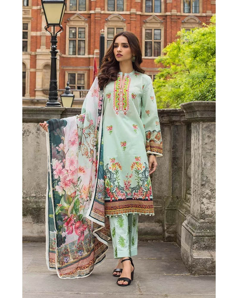 Mahnoor Lawn Collection 19 Salwar Suit DN-02A