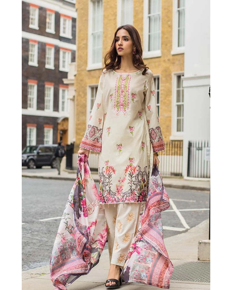 Mahnoor Lawn Collection 19 Salwar Suit DN-02B