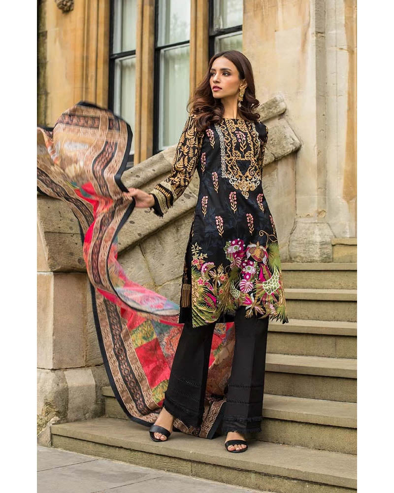 Mahnoor Lawn Collection 19 Salwar Suit DN-03A