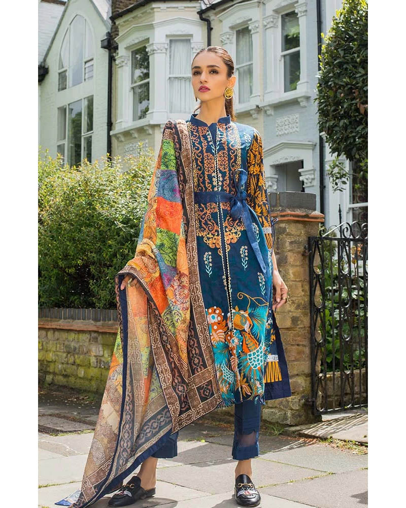 Mahnoor Lawn Collection 19 Salwar Suit DN-03B