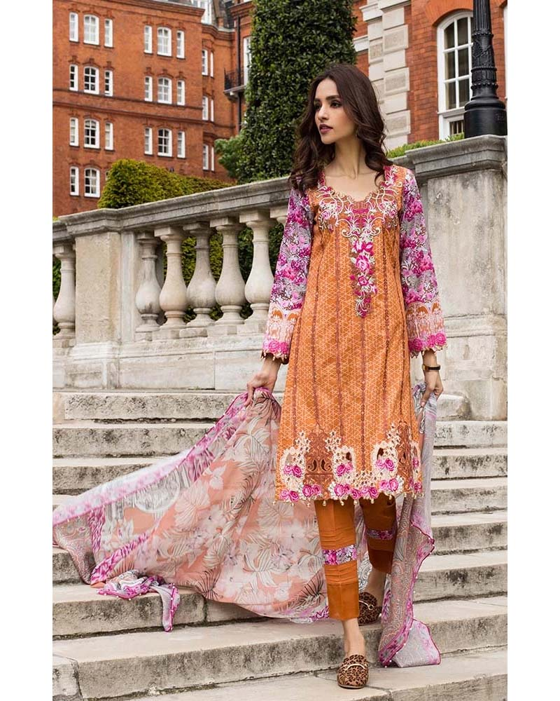 Mahnoor Lawn Collection 19 Salwar Suit DN-05B