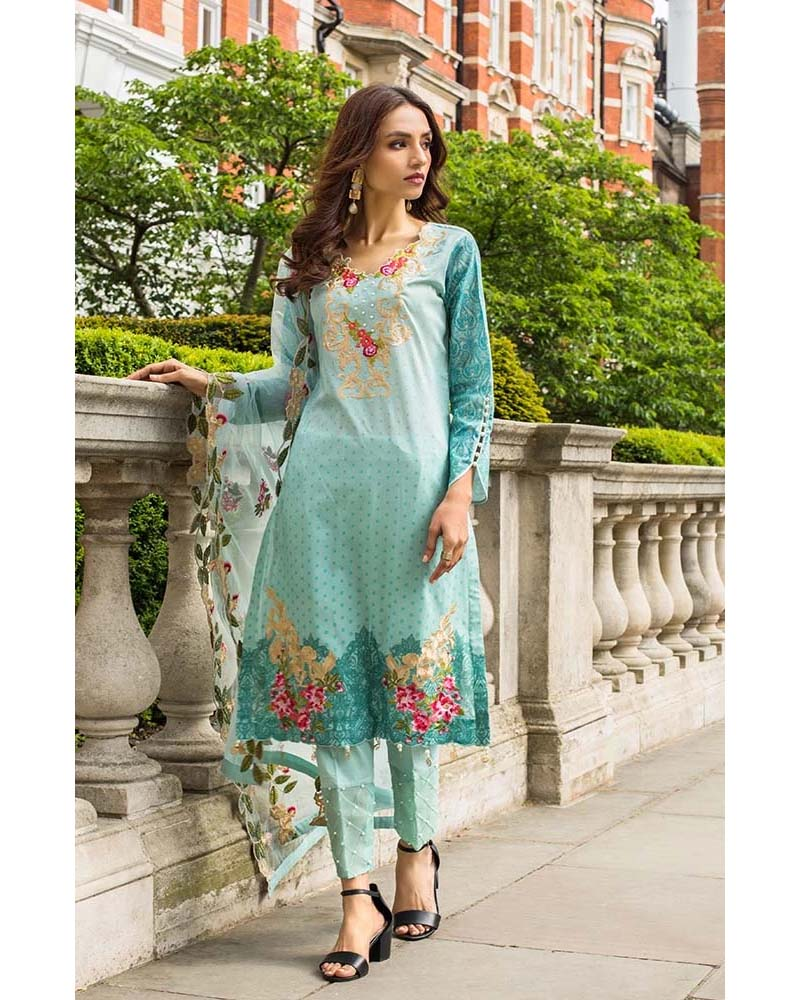 Mahnoor Lawn Collection 19 Salwar Suit DN-06
