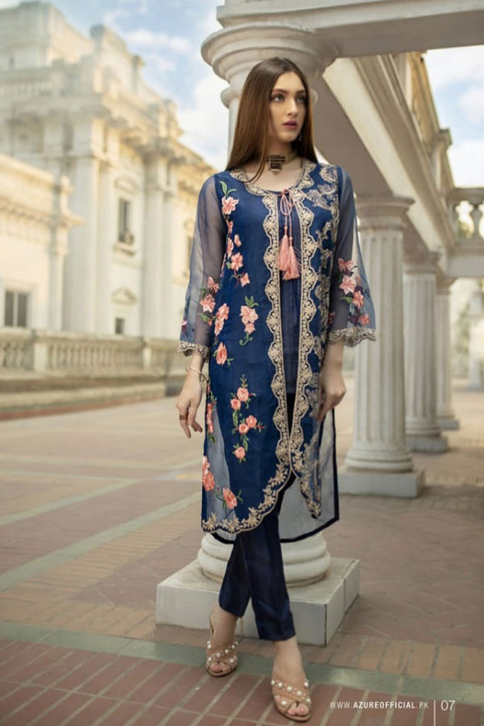 Azure Luxury Formal Pakistani Kurtis DN-06