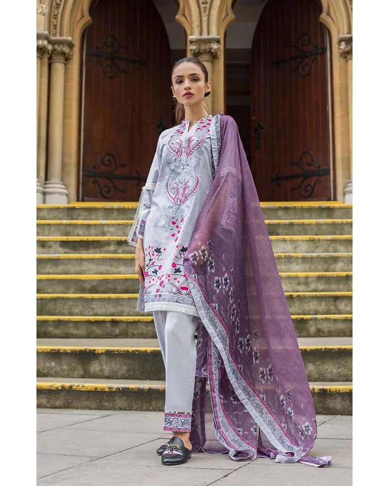 Mahnoor Lawn Collection 19 Salwar Suit DN-09B