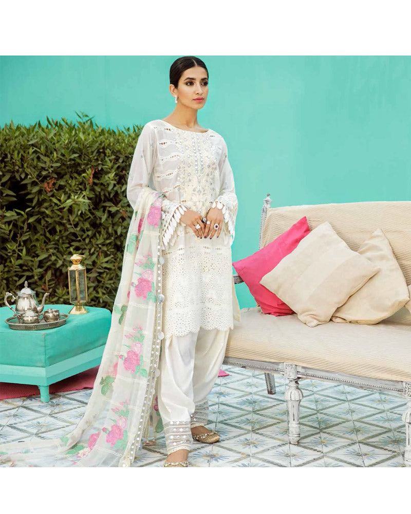 Charizma Eid Collection Unstitched Salwar Suits White Dream ED-42