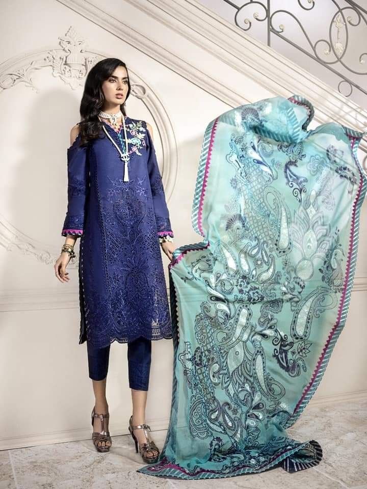 Noor Luxury Lawn Collection 2020 D-2b