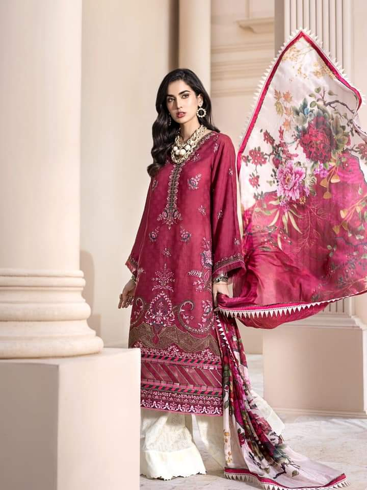 Noor Luxury Lawn Collection 2020 D-8a
