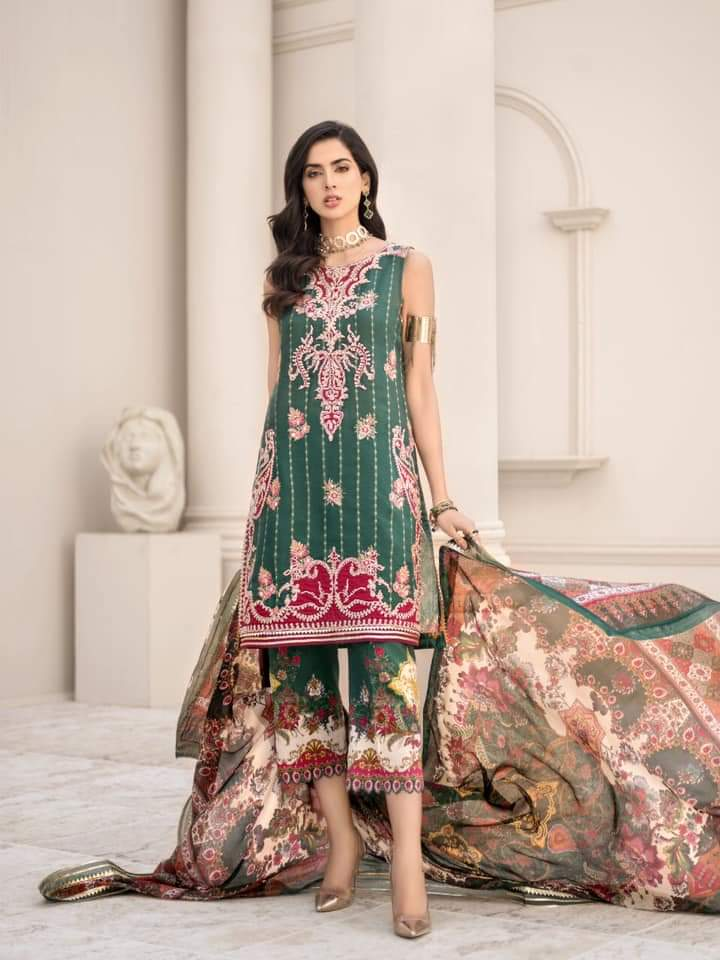 Noor Luxury Lawn Collection 2020 D-9a