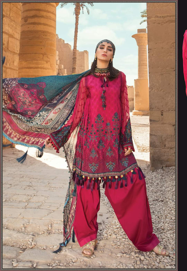 Maria B Luxe Lawn Collection 2020 - 7a