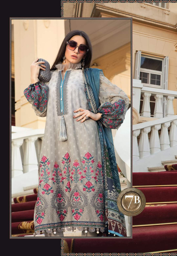 Maria B Luxe Lawn Collection 2020 - 7b