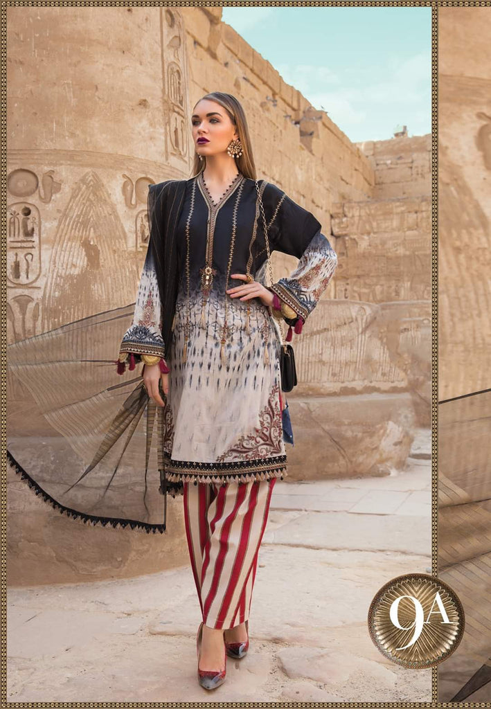 Maria B Luxe Lawn Collection 2020 - 9a