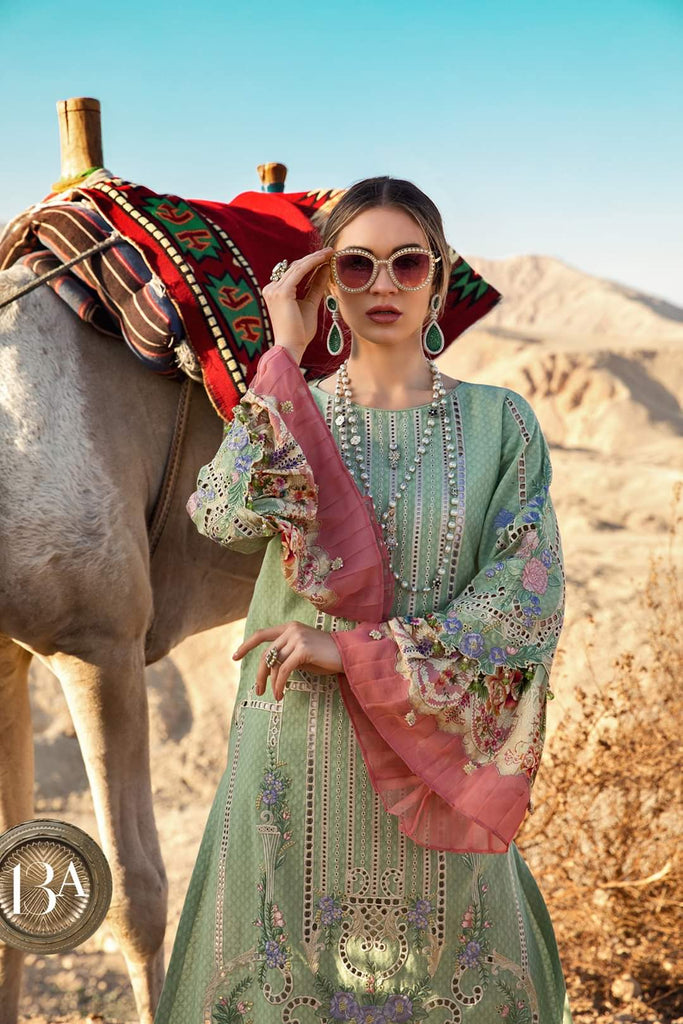 Maria B Luxe Lawn Collection 2020 - 13a