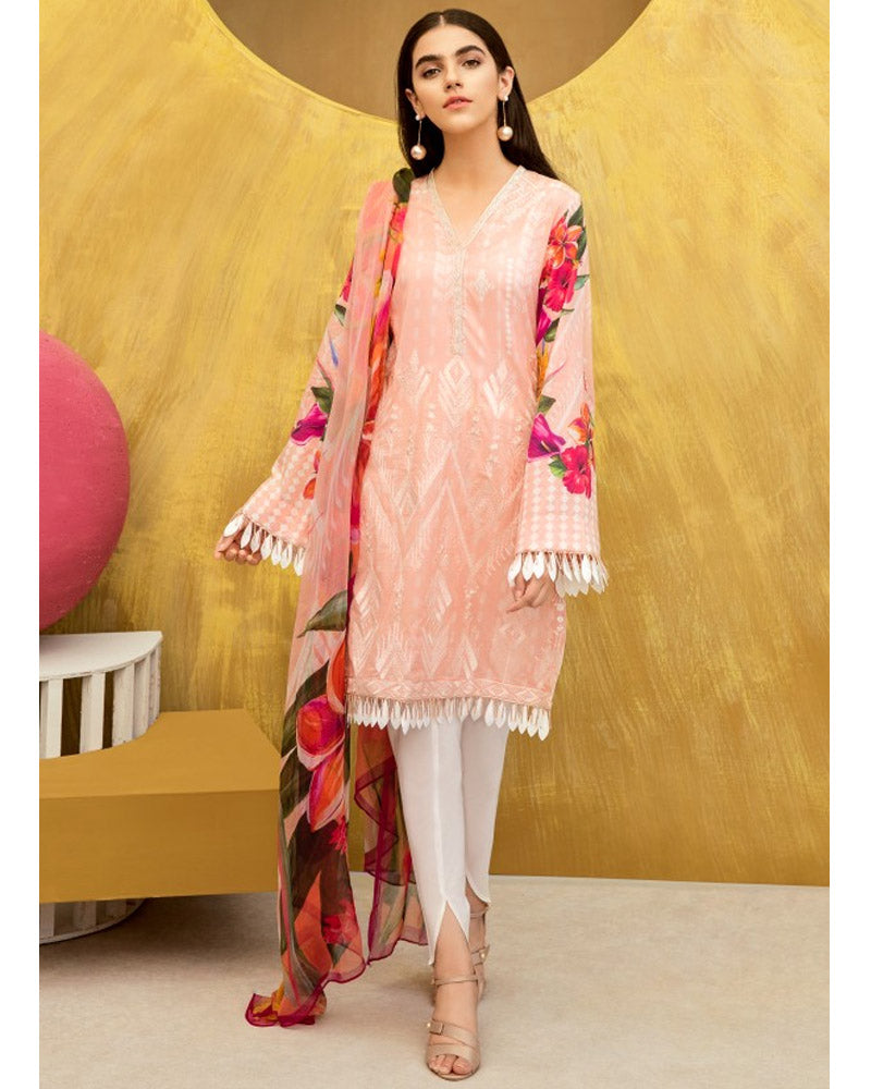 Iznik Lawn Festive Collection Salwar Suit Apricot Blush IFL-07