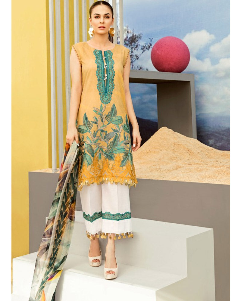 Iznik Lawn Festive Collection Salwar Suit Antique Gold IFL-08